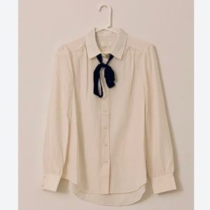 "NWT KATE SPADE ""Jazz Things Up"" Bow Tie Blouse"
